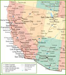 Southern Colorado Map by Map Of Arizona California Nevada And Utah