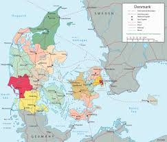 Western Europe Political Map by Political Map Denmark Travel Europe