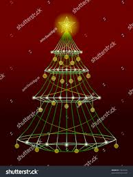 wire christmas tree lights ornaments vector stock illustration