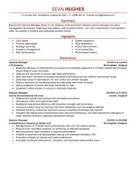 Best Resume Format For Quality Assurance by Endearing Restaurant General Manager Resume Sample Hotel Template
