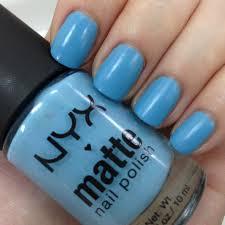 karen lives high nyx matte nail polish in sky blue