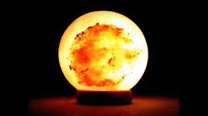 Himalayan Salt Light by Hand Carved Pink Himalayan Salt Lamp Ball Shape With Rosewood Base