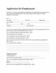 Resume Application For Job by Printable Job Application Templates Free Printable Employment