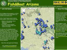Map Az Fishing Arizona The Arizona Experience Landscapes People