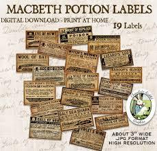 macbeth witch halloween vintage poison potion apothecary