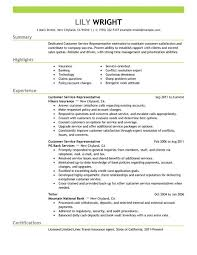 Customer Service Representative Resume Example   accounting specialist resume