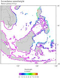 Southeast Map Probabilistic Tsunami Hazard Map For Southeast Asia Showing