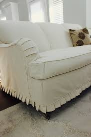 custom slipcovers by shelley cream duck cloth couch slip covers
