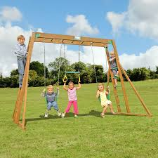 shop creative playthings residential wood playset with swings at