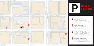 Chicago Parking Map by Escape House Location River North Escapehouse Chicago