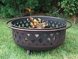 Fire Pit Pad by Sunnydaze Large Bronze Crossweave Fire Pit 36 Inch Diameter