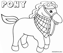 pony coloring pages coloring pages to download and print