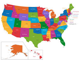 Blank State Map Of Usa by Name State Capitals Quiz A Free United States Map Printable Map