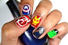 diy disney marvel u0027s the avengers minimalist nail art youtube