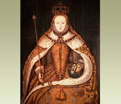 BBC   Primary History   Famous People   Queen Elizabeth I A painting of Queen Elizabeth I holding the orb and sceptre