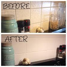kitchen backsplash painted over ugly old tile using annie sloan