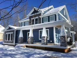 craftsman house plan with l shaped porch 46301la architectural