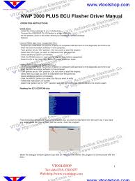 kwp2000 plus ecu flasher user manual