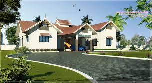 Garage Plans With Porch by Kerala Style Single Floor House Plans And Elevations Escortsea