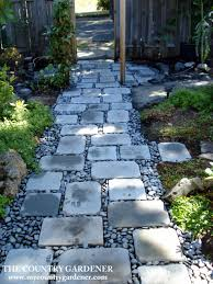 walkway ideas for backyard an inexpensive option for a beautiful path flagstones and river
