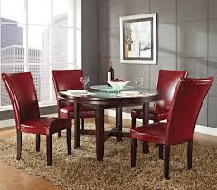 Five Piece Dining Room Sets Steve Silver Hartford 5 Piece Round Dining Room Set W Red Chairs