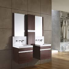 Hanging Bathroom Vanities by Double Sink Bathroom Vanity Clearance Rectangle Frameless Wall