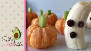 easy u0026 healthy halloween treats a kid can make pumpkins u0026 ghosts