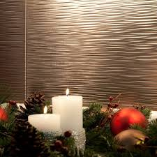 amazon com fasade easy installation ripple brushed nickel
