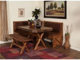 dining room fascinating corner breakfast nook set for home natural brown wood corner breakfast nook set with leather seat for home furniture ideas