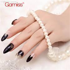 wholesale black silver stiletto nails faux fingernails tips