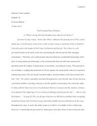 samples of essay writing in english