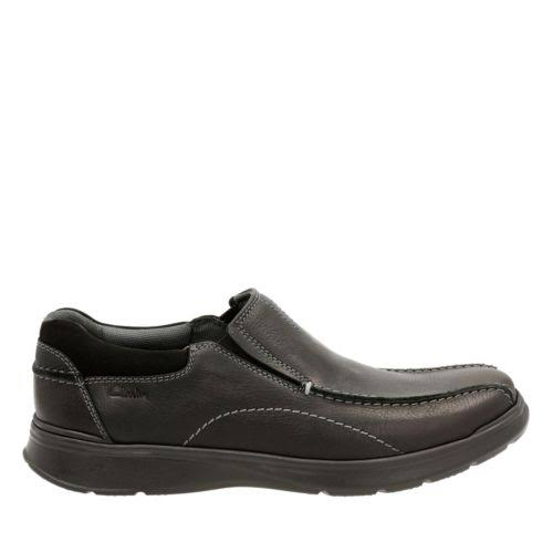 Clarks Cotrell Step 26119615 Black Leather Casual Slip On Loafers Shoes
