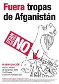 ¡No a la guerra de Afganistán!