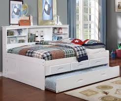 Full Size Trundle Bed Frame Kids Furniture White Full Size Bookcase Captain U0027s Day Bed With