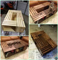 Free Woodworking Plans Round Coffee Table by Diy Wood Crate Coffee Table Free Plans Instructions Wood
