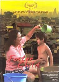 a child being bathed, poster of foster child movie, borrowed from clickthecity.com