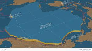 Tectonic Plate Map Pacific Tectonic Plate Bumps Stock Animation 6635831