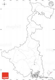 India Map Quiz by Blank Simple Map Of West Bengal Cropped Outside No Labels