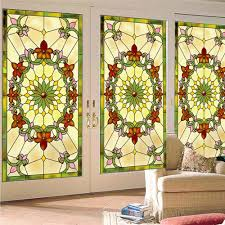 stained glass door film compare prices on modern stained glass door film online shopping
