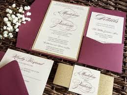 Making Wedding Invitation Cards Burgundy Wedding Invitations Kawaiitheo Com