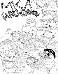 the drawings of will laren mica halloween poster design