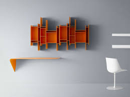 decorations excellent orange painted wood open wall mounted