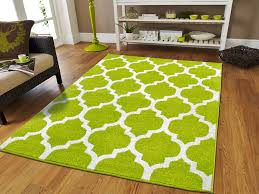 green living room rug view in gallery white and lime green
