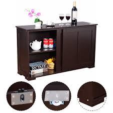 costway kitchen storage cabinet sideboard buffet cupboard wood