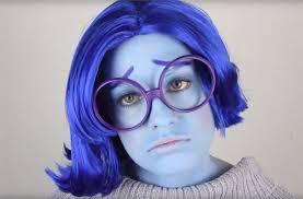 blue halloween costume inside out diy sadness costume u0026 makeup for halloween halloween