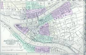 Street Map Of New York City by Pittsburgh 250