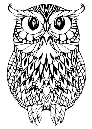 elegant owl coloring page 12 in free coloring book with owl
