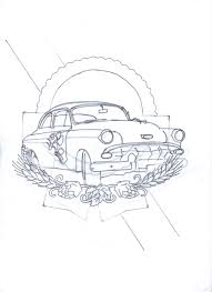 Mural Painting Sketches by Automotive Motorcycle Heavy Equipment Mural Commissions