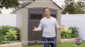 Rubbermaid Garden Tool Storage Shed by Rubbermaid Roughneck Xl 7 U0027x7 U0027 Outdoor Storage Shed 5h80 Youtube