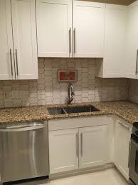 walter zanger 6th avenue cocoon tile with chamois grout kitchen